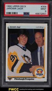 1990 Upper Deck Hockey Jaromir Jagr ROOKIE RC #356 PSA 9 MINT
