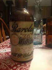 BARCLAY 76 MARYLAND RYE QT BOTTLE F P GLUCK CINCINNATI OHIO 1890's paper label.