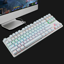 More details for k70 rgb mechanical gaming keyboard multicolour rgb backlighting usb wired white