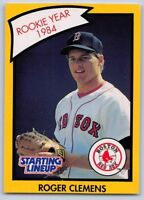 1990  ROGER CLEMENS - Kenner Starting Lineup Card - BOSTON RED SOX - (Yellow)