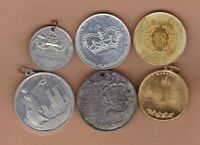 SIX 1935 TO 1953 CORONATION MEDALS IN VERY FINE TO NEAR MINT CONDITION