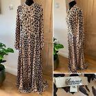 Somerset ALICE TEMPERLEY Maxi Dress Size UK 16 Leopard Animal Print Long Sleeve