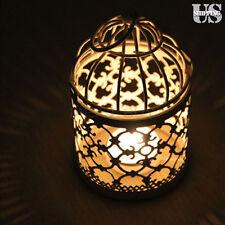 Vintage Metal Hollow Hanging Bird Cage Candle Holder Candlestick Lantern Decor