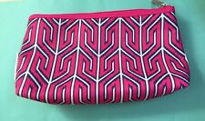 Clinique Pink patterned Cosmetic makeup Wash Travel Bag 25cm x 13cm x 7cm New