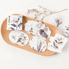 Simple But Elegant Plants Flowers Decorative Stationery Stickers DIY Stick Label