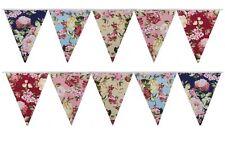 Fabric Bunting Wedding Birthday Party Christening Shabby Chic Handmade 10-50ft
