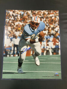 Houston Oilers Autographed HOF Earl Campbell Signed 16x20 photo! Tristar COA