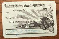 U S Senate Chamber Visitor's Gallery John J Williams 1970 Delaware 91st Congress