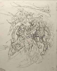 NEAL ADAMS TARZAN ROUGHS, 8 LIFESIZE COPIES MADE DIRECTLY FROM ORIGINAL ART NM-M