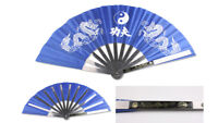 Blue Taichi Kung Fu Steel Martial Arts Fan