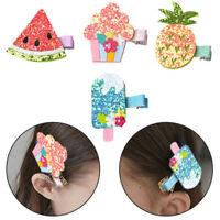 Lovely Cake Hair Clips Baby Girl Hair Accessories Kids Fruit Pattern Hair Clip N