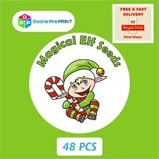48x Christmas MAGICAL ELF SEEDS Stickers Xmas Santa Clause Gift Seal Label   X51