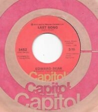 EDWARD BEAR * 45 * Last Song * 1972 * CLEAN USA ORIGINAL