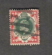 Great Britain England Uk King Edward Vii One Shilling stamp used