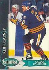 1992-93 Parkhurst Buffalo Sabres Hockey Card #15 Keith Carney Rookie
