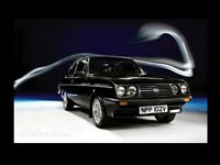 FORD ESCORT MKII RS2000 BLACK RETRO POSTER PRINT FROM CLASSIC 80's ADVERT A3