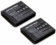 2x 3.7v Battery for DMW-BCF10 E Panasonic Lumix DMC-FS62 DMC-FT1 DMC-FT2 DMC-FT3