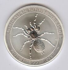 2015 1 oz .999 Fine Silver Australian Funnel Web Spider Coin - Gem Bu