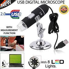 USB Microscope Endoscope 1000X 8 LED 2MP Digital Magnifier Camera & Lift Stand