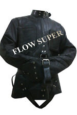 This is high quality genuine leather straitjacket, soft PVC lining.