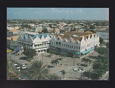 ARUBA In the middle of downtown Oranjestad Plaza Daniel Leo post card