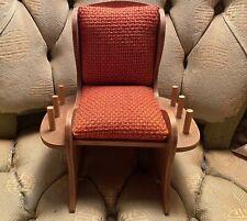 Vintage 1960s Wood Rocking Chair Pin Cushion Thread Holder