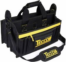 Tool Bag, Teccpo Heavy Duty Bag, 3 Max Extended Space and 9+7 Pockets, with Wear