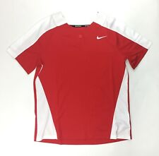Nike Stock Vapor Select 1 Button Softball Jersey Women's Medium Red White AV6715