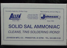 SAL AMMONIAC Stained Glass Soldering Iron Supplies Tinning Block 8 ounces Solid
