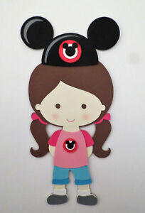 Mickey Magical Moments Girl Die Cut Paper Piecing Scrapbook Embellishment