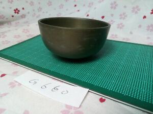 """2.618""""Japanese Buddhist Bell Zen Gong Rin G660 Good Sound  VTG"""