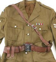 VIETNAM ARMY OFFICERS SAM BROWNE BELT & STRAP GENUINE ISSUE