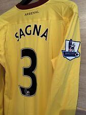 Arsenal Match Worn Sagna Away Game Worn Washed Premier League Aston Villa France