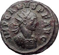 Carus  Carinus & Numerian father 282AD Ancient Roman Coin Nude Sol Sun i30287