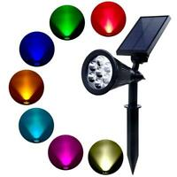 7 LED Solar Garden Lamp Spot Light Outdoor Garden Lawn Spotlight Lighting Decor