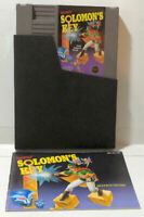 Solomon's Key with Manual & Sleeve - Cart Near Mint - NES - Tested