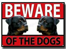 Rottweiler Beware of The Dogs Metal Sign Security Warning Guard Dog Sign.a3