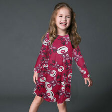 Family Parent Child Mother Daughter Dresses Christmas Party Swing Skater Dress