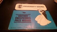 Mustang Sweepstakes Record - University Sound - Vinyl Record LP - Stereo