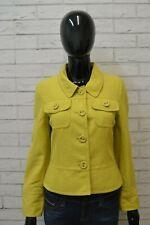 Giacca Donna MARELLA  SPORT Cappotto Trench  Size 40 Jacket Gialla con bottoni