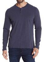 Vestige Mens Shirt Navy Blue Size Large L Slub Knit Baseball Henley $98 205