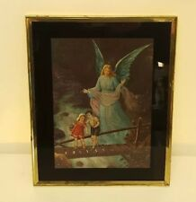 Guardian Angel Protecting Children Foot Bridge Nursery Room Appalachia Art Print