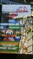 2019 PAWTUCKET RED SOX (AAA) MINOR LEAGUE BASEBALL POCKET SCHEDULE,Pawsox