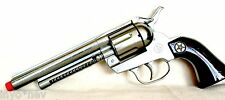 Silver Cap Gun Pistol Made in Spain 12 Shot Ring Cap Toy Gun BRAND NEW 10007