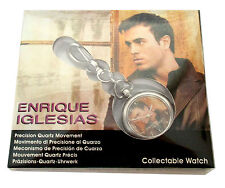 Enrique Iglesias Brown Jacket Silver Colored Pocket Watch New Official Nib