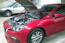 Silver Carbon Hood Shock Damper for 14-17 Mazda3 Mazda 3 Axela MK3 BM Skyactiv