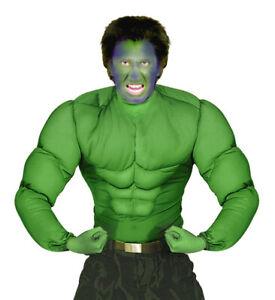 1980's Hulk Green Monster Muscle Man Super Hero Men's Fancy Dress Costume S-XL