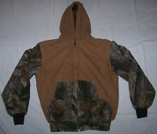 Youth RedHead Insulated Cotton Duck/Realtree Camo Jacket w/Hood Size L Large
