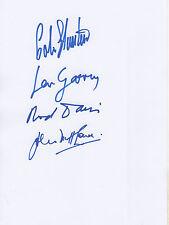 The Quarrymen Autogramme signed 20x30 cm Karteikarte