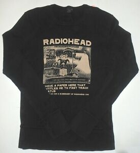 RADIOHEAD RARE! L/S BLACK SHIRT STANLEY DONWOOD ART 2000 MADE BY WASTE